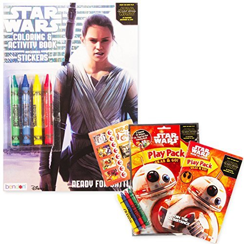 Star Wars The Force Awakens Coloring Book Set with Stickers