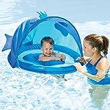 Swim School Fotador de bebé con parasol, sistema de construcción de confianza, pez