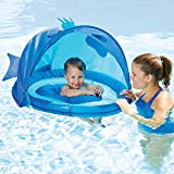 SwimSchool ET9013B Fun Fish Fabric Baby Boat, Blue