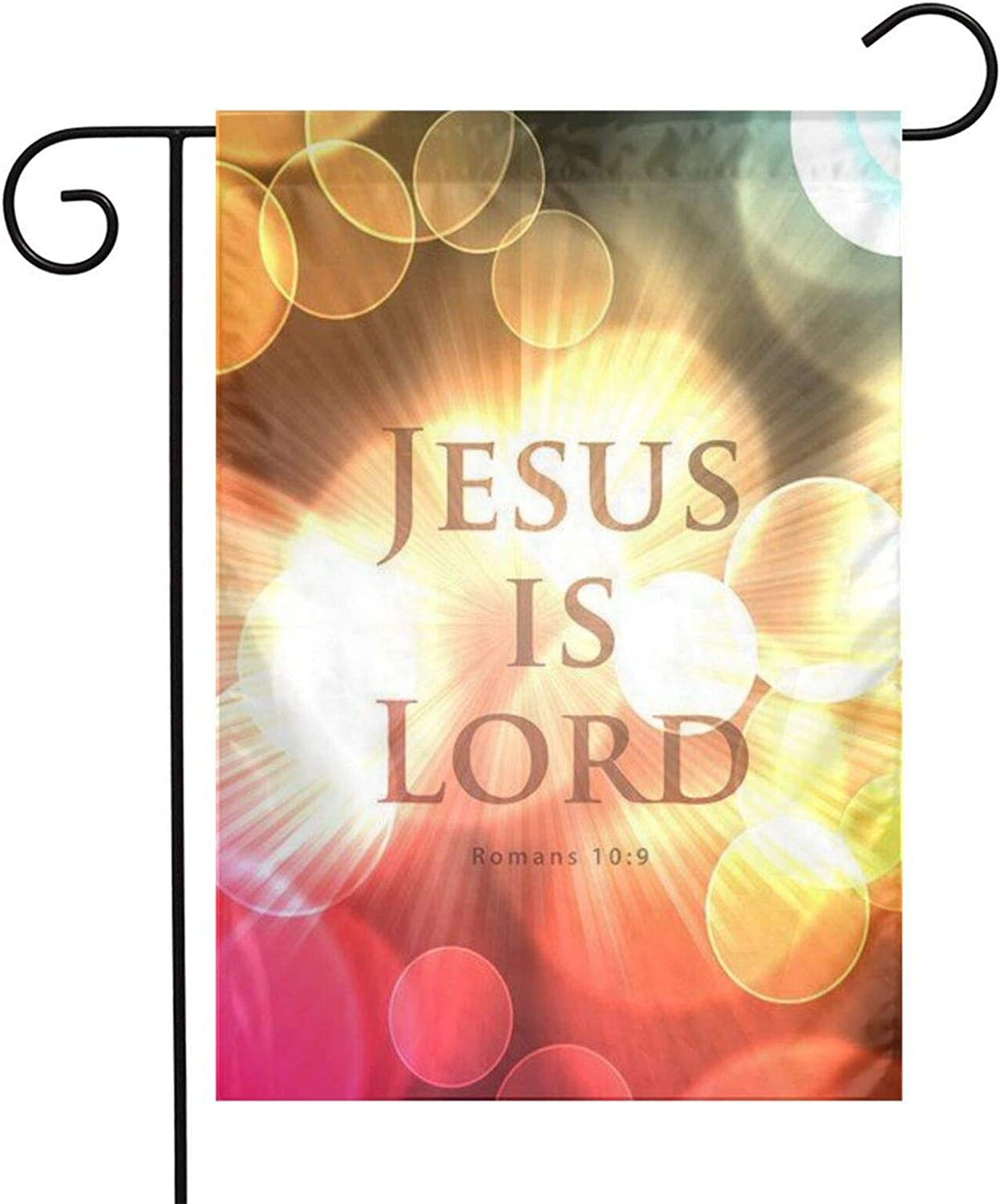 Jesus is Lord Garden Flag for Outside 12x18 Inch Double Sides Flag Outdoor Yard Flag Garden Decor