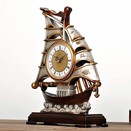 Family Fireplace Clocks Desk Watch Tablecloth Clocks Bedroom Retro Resin Decoration Quartz Clock ó Desk n