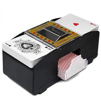 Ksruee Shuffler automático de Naipes Naipes Shuffler Naipes Shuffler automático de Cartas Tarjeta de Juego de Mesa de Lavado eléctrico