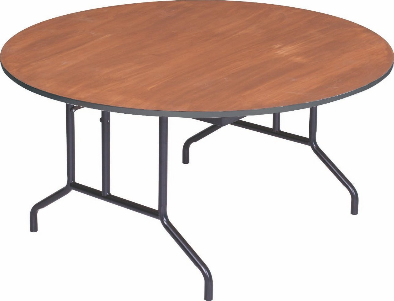 Amazon com: AmTab - R48PM - Folding Table, Plywood Stained and