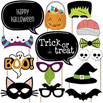 trick or treat halloween party photo booth props kit 20 count - Halloween Photography Props