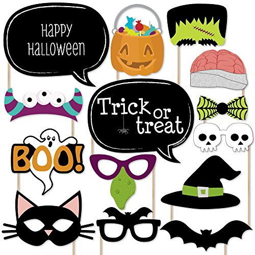 Big Dot of Happiness Trick or Treat - Halloween Party Photo Booth Props Kit - 20 -