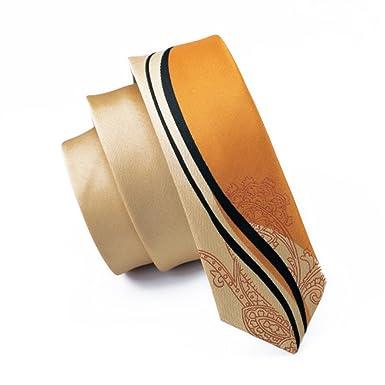 CAOFENVOO Mens Colorful Skinny Silk Tie
