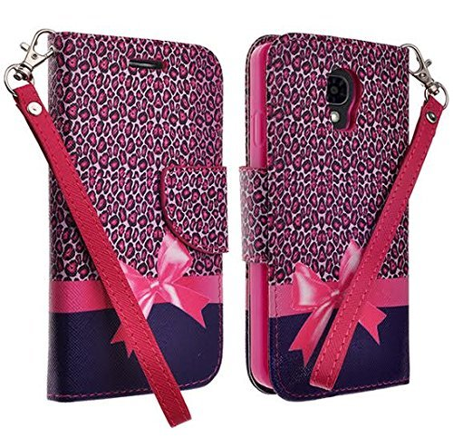 LG Access LTE F70 L31G Case - Wydan (TM) Credit Card Wallet Style Case Cover For LG Access LTE F70 L31G - Ribbon w/ Wydan Stylus Pen (F70 Ribbon)