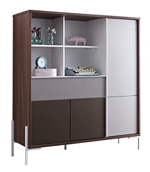Roller Highboard Vogue Nussbaum Skandinavisches Design