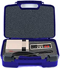 Life Made Better Storage Organizer - Compatible with Nintendo NES Classic Mini Game Console, Two Controllers And Accessories- Durable Carrying Case - Blue