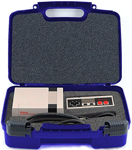 Price comparison product image Hard Storage Carrying Case For Gaming Consoles Fits Nintendo NES Classic Mini Game Console, Two Controllers and Accessories