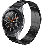 Kartice Compatible Samsung Galaxy Watch(46mm) Bands,22mm Galaxy Watch Band Solid Stainless Steel Metal Replacement Bracelet Strap fit Samsung Galaxy Watch SM-R800 Smart Watch(46mm).-Black1