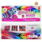 Birthday Gifts / Toys For Girls / Boys Above 6 Year Old - [Best Arts and Crafts For Girls] - Premium Bracelet(Jewelry) Making Kit aka Friendship Bracelet Maker/Craft Kits With Loom, Rubber Bands, Clips & Manual Included - Arts/Crafts Bracelets Kit/Toys by Mazichands