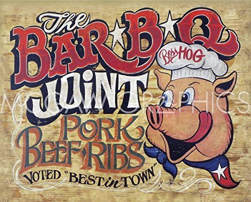 Joints Bbq (The Bar-B-Q Joint by Zeke's Antique Signs, Art Print Poster 14