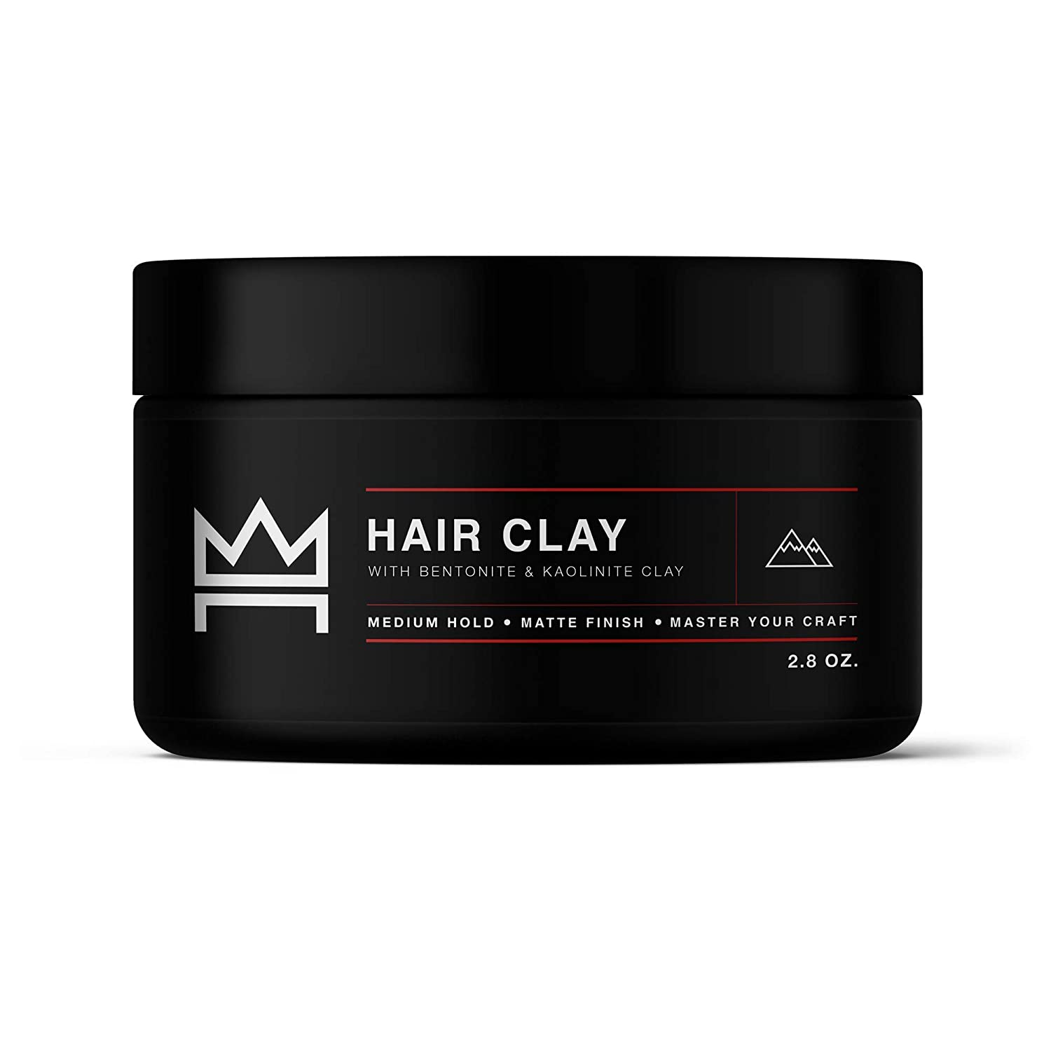 Hair Craft Co. Clay Pomade 2.8oz - Shine Free Matte Finish - Medium Hold/Natural Look – Best Men's Styling Product, Barber Approved – Ideal for Textured, Thickened & Modern Hairstyles – Unscented: Beauty