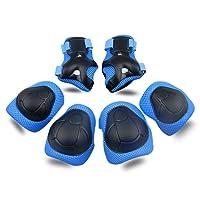 Bambini Kit Protezione Set di ginocchiere Gomiti Polsiere Protettivo Set Per Kids Protective Gear per Ginocchia Guard Gear 6 PCS