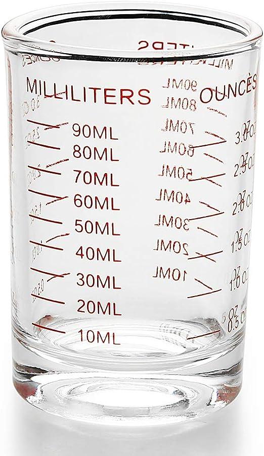 Amazon Com Measuring Cup Shot Glass 3 Ounce 90ml Liquid Heavy