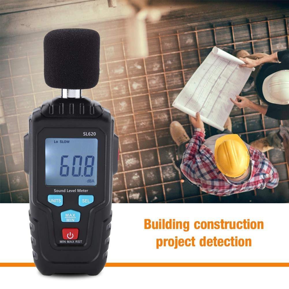 Wocume MESTEK SL620 LCD Sound Level Meter Logger 30-135dB Noise Measurement Audio Level Meter Detector