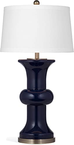 Vince Table Lamp In Navy Blue Amazon Com