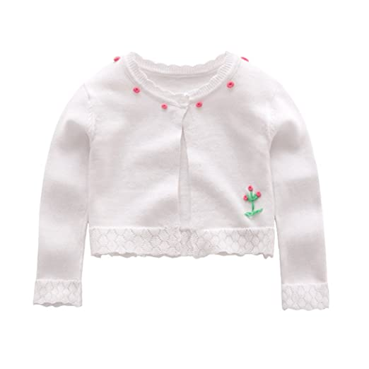 0382e78b6 Amazon.com  CheerLin Toddler Girls Cardigan Long Sleeve Floral ...