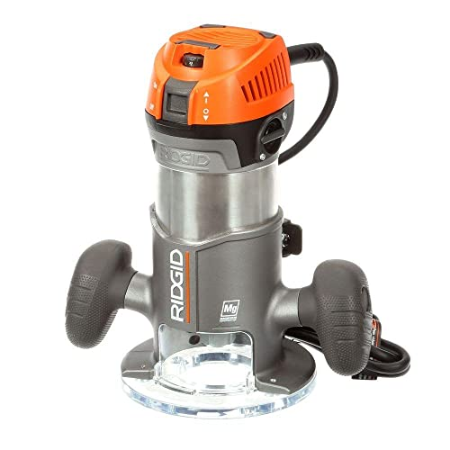 Ridgid 11-Amp 2 Peak Hp 1 2 Corded Variable Fixed Base Router R22002