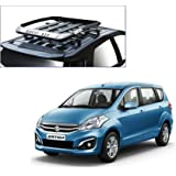 Auto Pearl - Premium Quality Alluminium Car Roof Quest Luggage Carrier 4x4 Black For - Maruti Suzuki Ertiga 2016