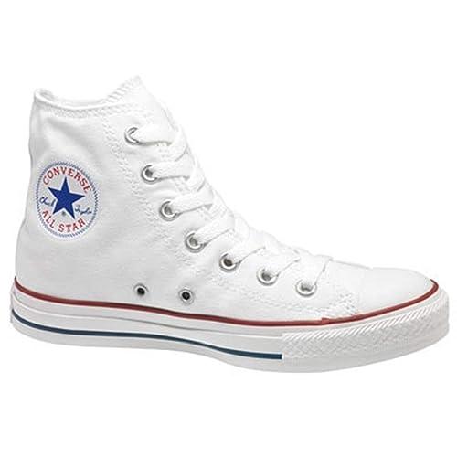 da4e79e649b4 Converse All Star Chuck Taylor HI TOP Optical White M7650 Unisex Shoes US Size  Men 11 Women 13  Amazon.co.uk  Shoes   Bags