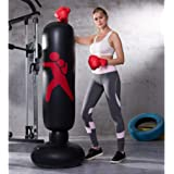 """63"""" Vertical Inflatable Boxing Bag, Heavy Free Standing Punching Bag, Freestanding Fitness Punching Boxing Bag Fitness Training Tower Boxing Column for Kids and Adults Boxing Target Bag"""