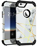 iPhone 6s Case iPhone 6 case, PIXIU Hybrid Heavy Duty Shockproof Full-Body Three Layer Protective Sturdy marble case for Apple iPhone 6/6s 4.7inch