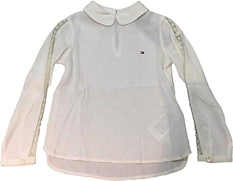 Tommy Hilfiger - Camisa Blanca Manga Larga: Amazon.es: Ropa y accesorios