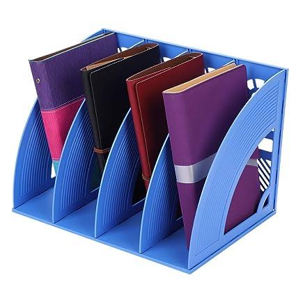 4 compartimentos revistero revistero - caja de almacenaje (módulo de clase carpeta soporte organizador plástico