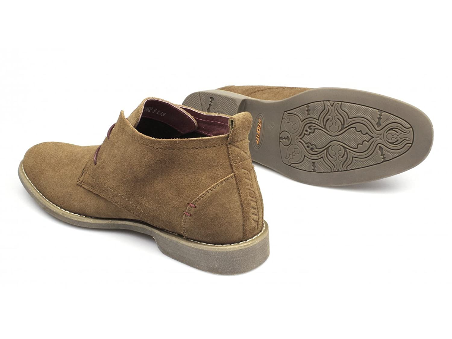 Front ROSCOE Mens Suede Leather Desert Boots Tan: Amazon.co.uk: Shoes & Bags
