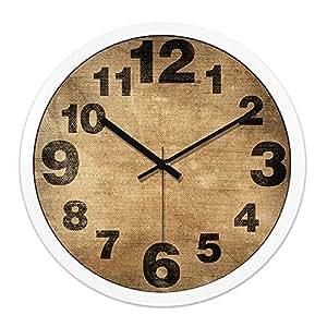 FortuneVin Reloj de Pared Reloj Aula, Hogar, Oficina Decoración Reloj de Cocina Ropa de Cama y Creatividad Silencio Minimalista de Gran Personalidad.