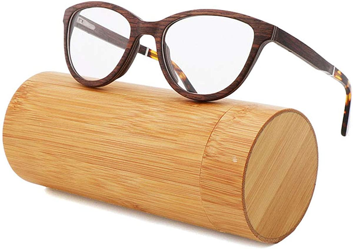 RTGreat Green And Environmentally Friendly Hand-Made Bamboo And Wood Spectacle Frame New Sandwich Cherry Wood Frame Retro Glasses Ebonywoodpeelbox