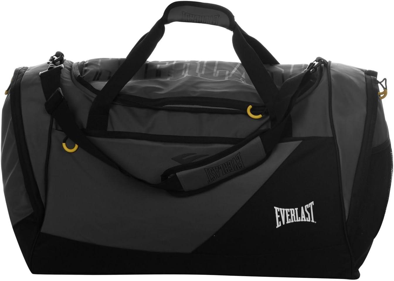 Everlast Unisexe Sac De Sport Gym Sac Duffel Holdall Bagage Charcoal//Noir