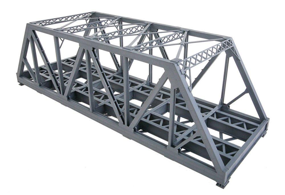 Walthers 933-4510 Ho 38cm Modernised Double-track Railroad Truss Bridge Kit B013H336KC