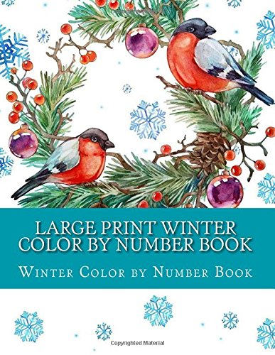 Large Print Winter Color By Number Book (Adult Color By Numbers ...