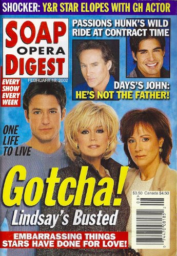 - Catherine Hickland, Hillary B. Smith, Ty Treadway, One Life to Live, Drake Hogestyn, Daytime's Hottest Duos - February 19, 2002 Soap Opera Digest Magazine
