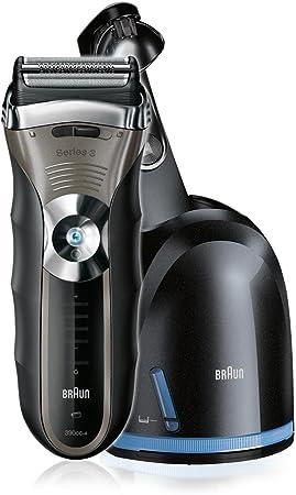 Braun - Afeitadora Series 3-390-4 cc con sistema de carga y autolimpieza Clean & Renew: Amazon.es: Salud y cuidado personal