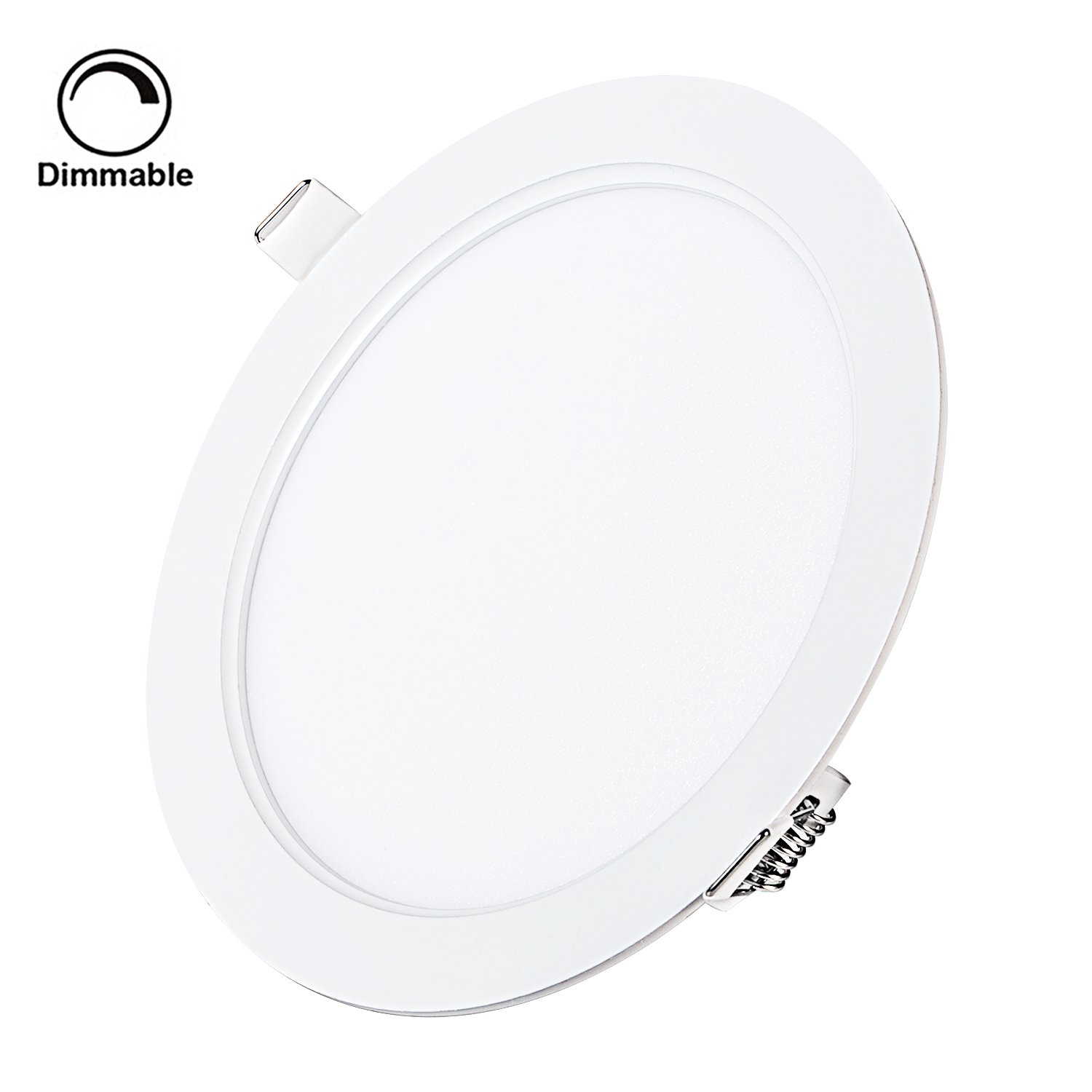 9W 5'' Dimmable LED Recessed Panel Light,Ultra-Thin Round LED Panel Light,3000K Warm White,720lm,LED Recessed Ceiling Downlight Fixture,110V LED Driver Included