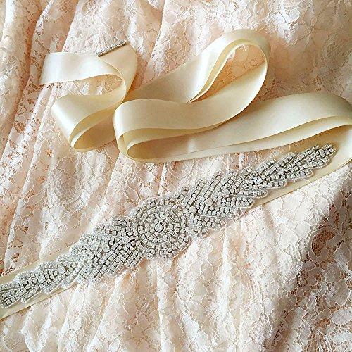 Ceintures De Châssis De Mariée Cristal Des Femmes Azalées Les Ouvrants De Ceinture De Mariage Pour L'ivoire De Mariage