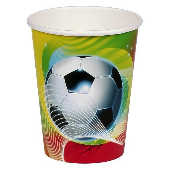 8 vaso de cartón 266ml niños copa fiesta temática fútbol ...
