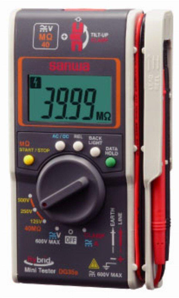 SANWA ハイブリッドミニ絶縁抵抗計(3レンジ絶縁抵抗計+クランプ) DG35A B00A9N6OPI
