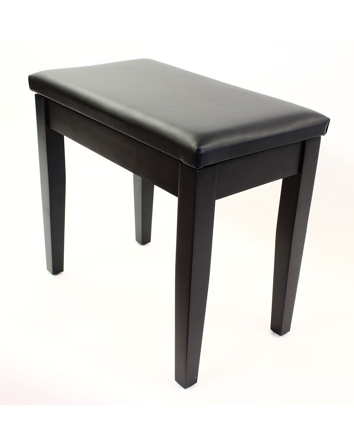 Coda Piano Bench with Padded Seat and Sheet Music Book Storage - Satin Black