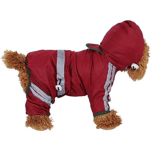 Xiaoyu chaqueta impermeable para perro de mascota con chubasquero ...