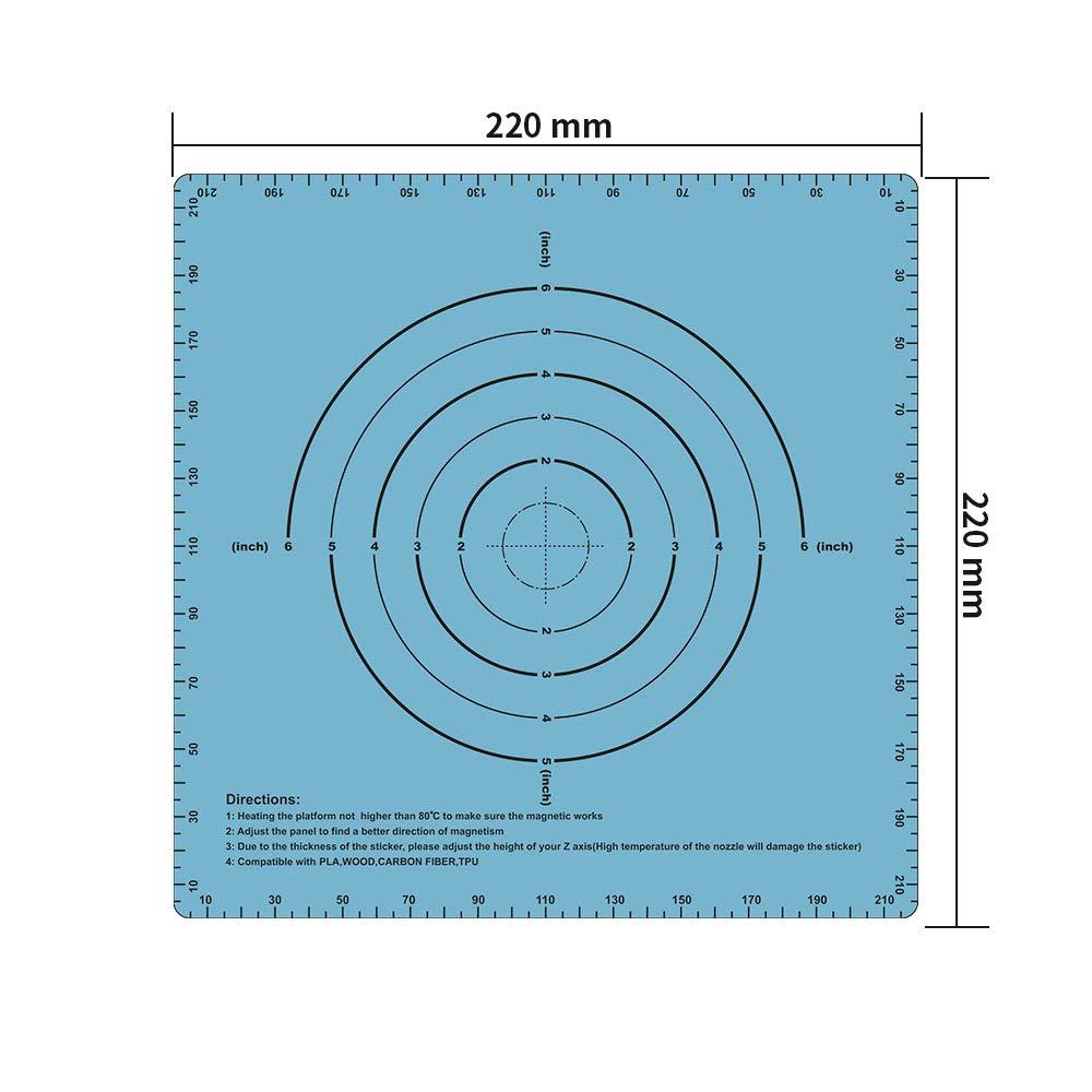 blu Sooway Flex magnetico due strati stampa caldo letto adesivo costruire superficie nastro per piattaforma stampante 3D riscaldata Bed compatibile con Creality Ender 3 Anet/A8/ 220x220mm