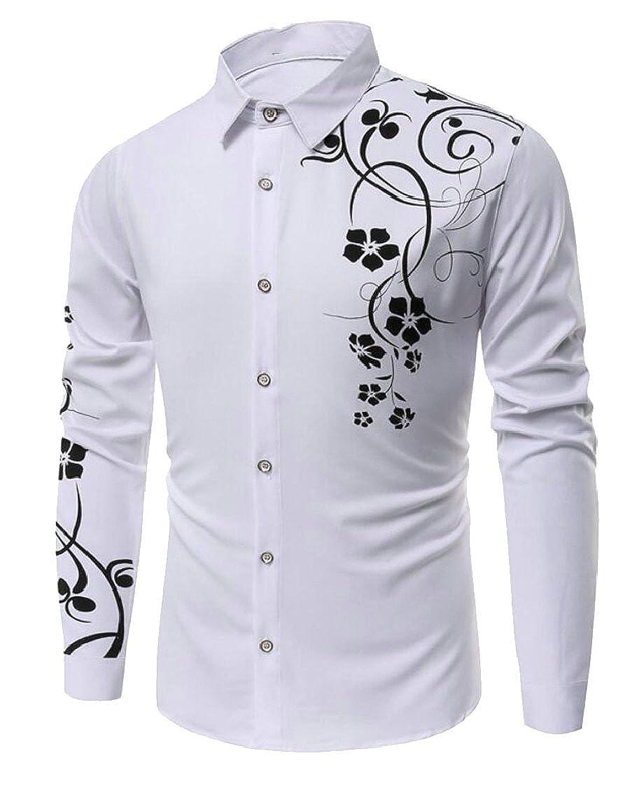 M/&S/&W Mens Long Sleeve Shirt Casual Button Down Dress Shirt