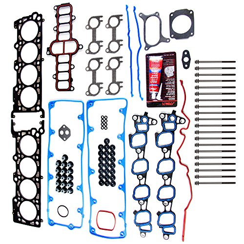 Head Gasket Sets with Bolts ECCPP Replacement for Automotive Replacement Engine Head Gasket Kits for Ford E-150/E-250 F-150 Expedition E-150 Econoline 2002-2004 4.6L 5.4L V8 SOHC (2003 Ford F 150 Engine Size 4-6 L)