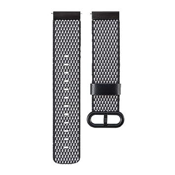 Zolimx Moda Nylon Relojes Fitness Smartband Inteligente Banda Correa con Hebilla Conector Accesorios para Xiaomi Huami Amazfit Smartwatch (Negro): ...