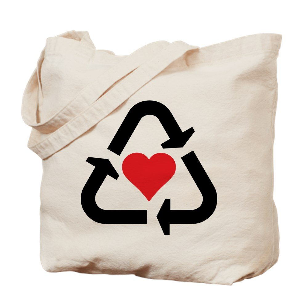 CafePress – Onバレンタインの日、リサイクルラブ – ナチュラルキャンバストートバッグ、布ショッピングバッグ B01A5QOJJG