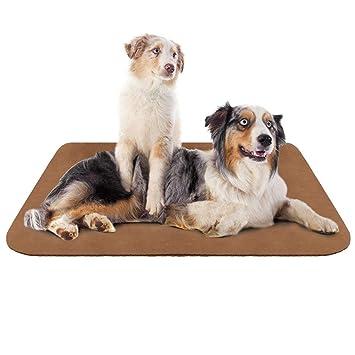 Hero Dog Colchoneta Grande Suave para Perros - 100% Lavable A Máquina, Colchón De Lujo Antideslizante De Café XL